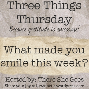 Three Things Thursday (on Friday) – 01 Dec 2017